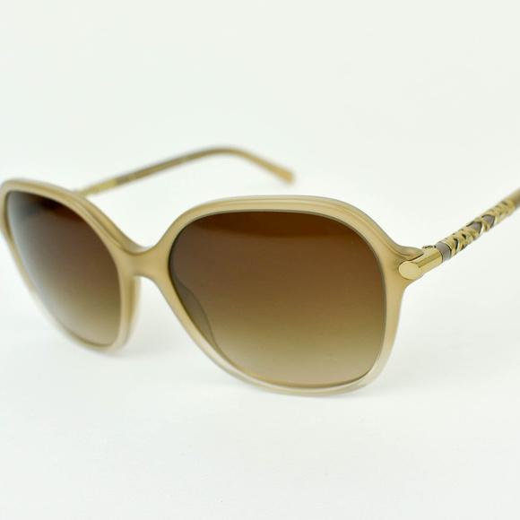 105a8414acb3 Burberry Accessories - Burberry Beige   Gold Nova Check Sunglasses